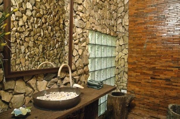 decoracion de baños con piedras naturales