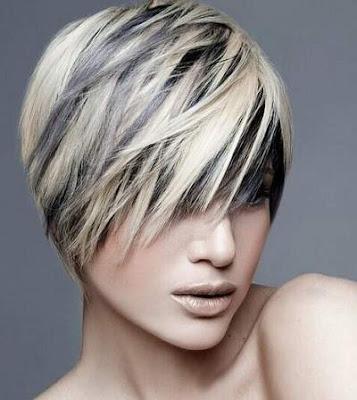 Warna highlights untuk model rambut pendek 2016