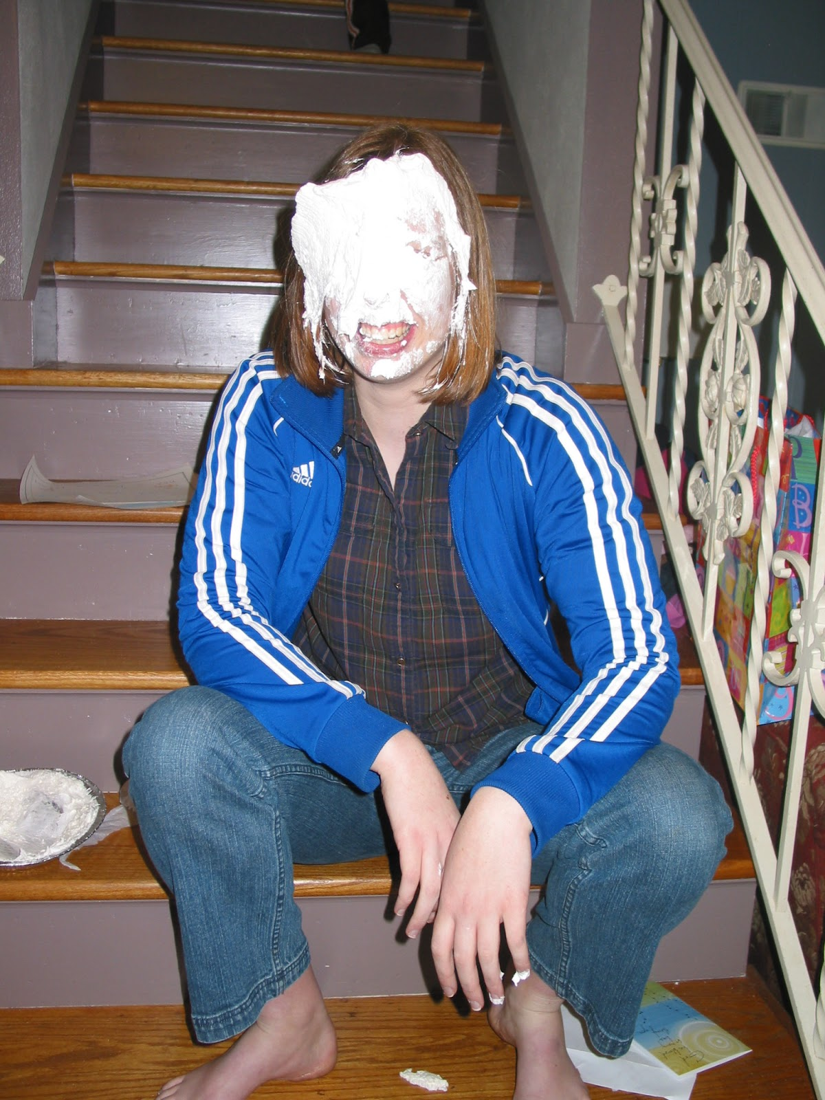 birthday pie in the face