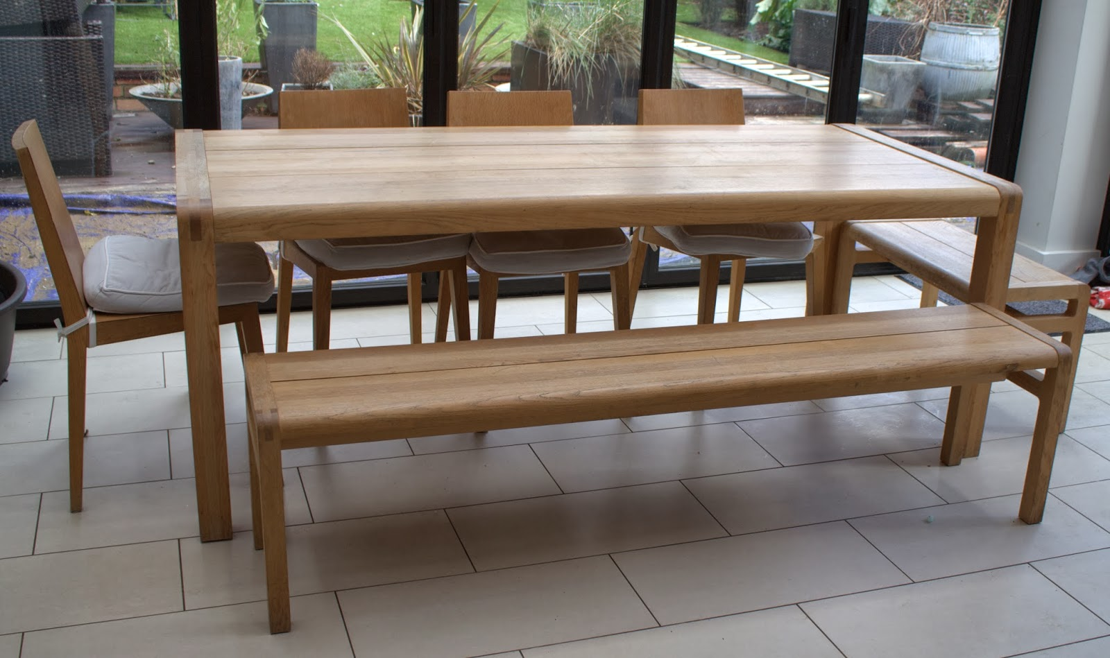 Ot fs habitat table habitat bench henriksdal chairs singletrack details about habitat radius solid oak dining set with large table 2 geotapseo Gallery