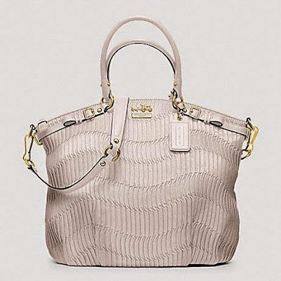 COACH Coach Madison Gathered Leather Lindsey North South Satchel 33371