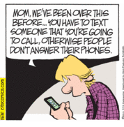 Jeremy tells his mom to text him that she's going to call