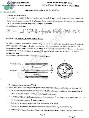 Corrigé contrôle final d'Éléctricité 3 SMP S4-FSR-2014-2015