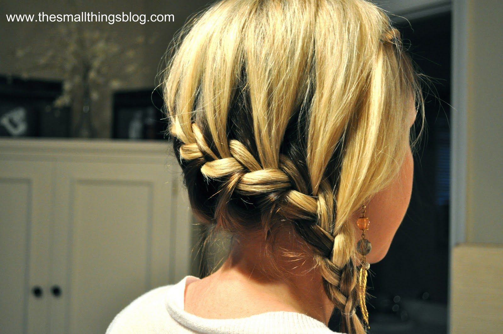 How to braid the braid around the head Views and step by step instructions 25