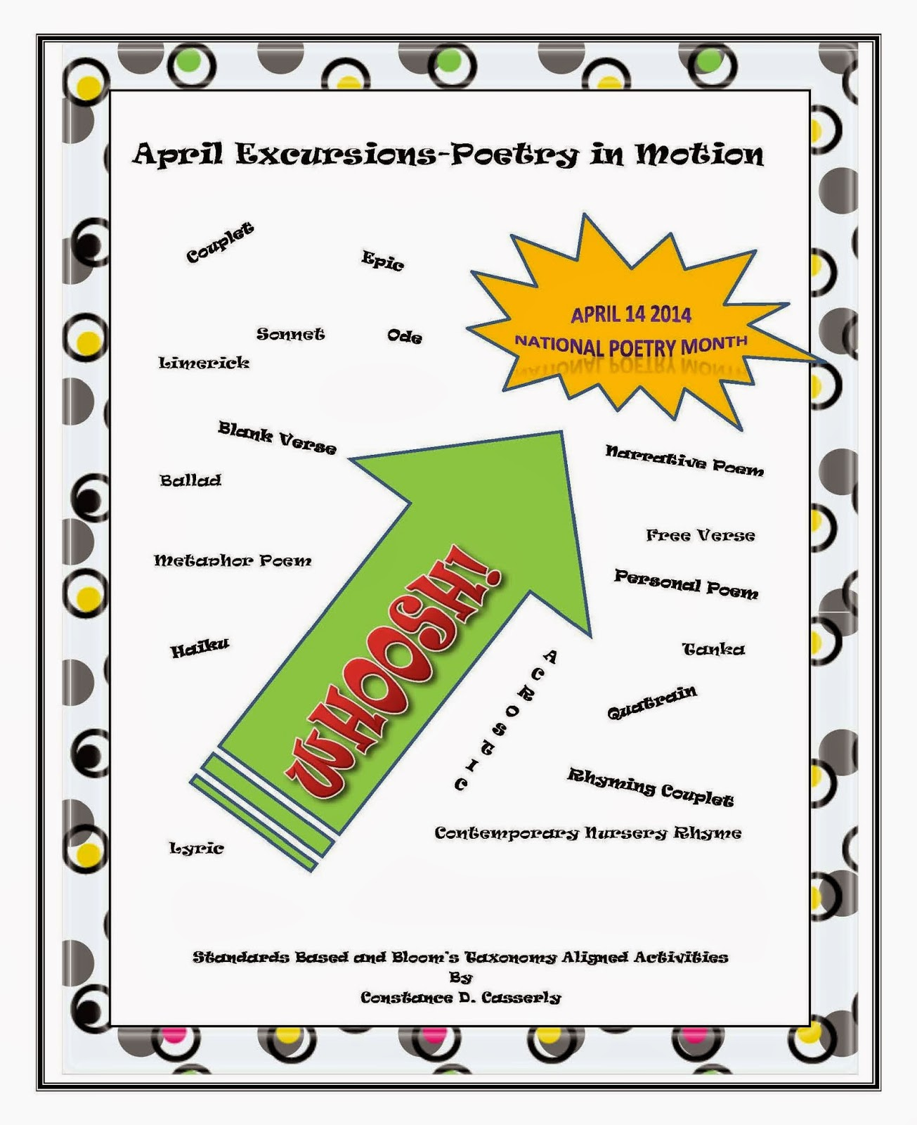 Middle School and High School Language Arts Poetry Activity