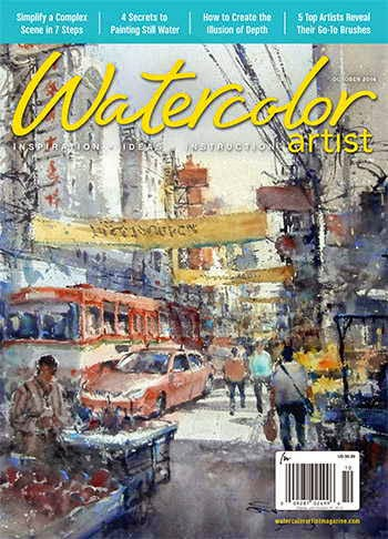 Watercolor Artist Magazine October 2014
