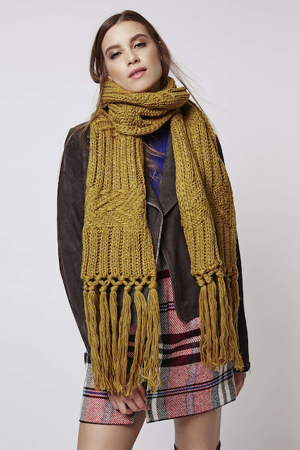 mustard knit scarf, mustard cable knit scarf, mustard large scarf,