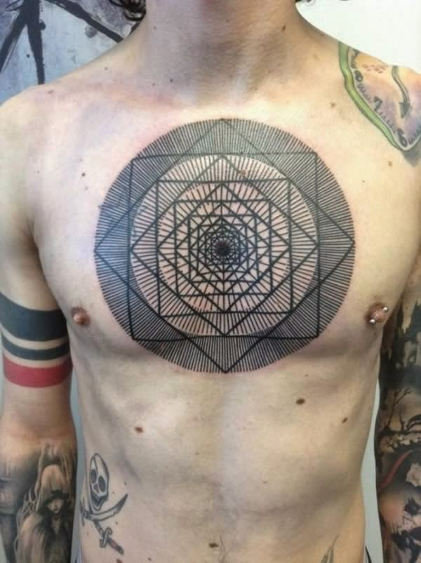 Optical Illusion Tattoo Seen On www.coolpicturegallery.us