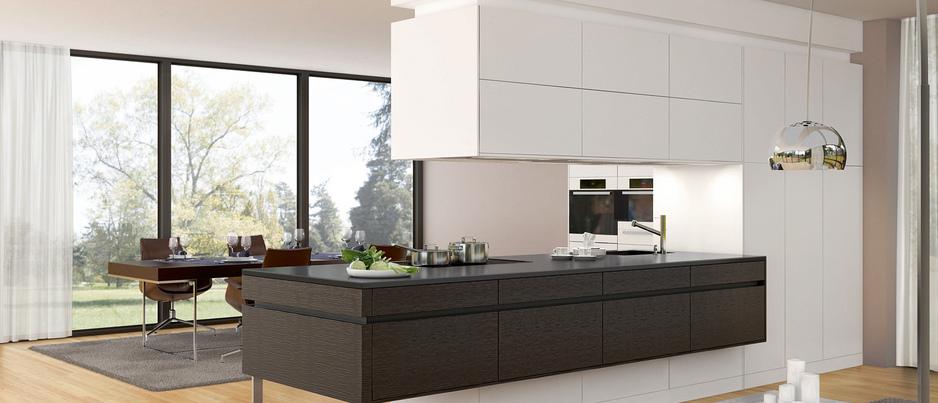 Una cocina que divide espacios cocinas con estilo - Cocinas sin muebles altos ...