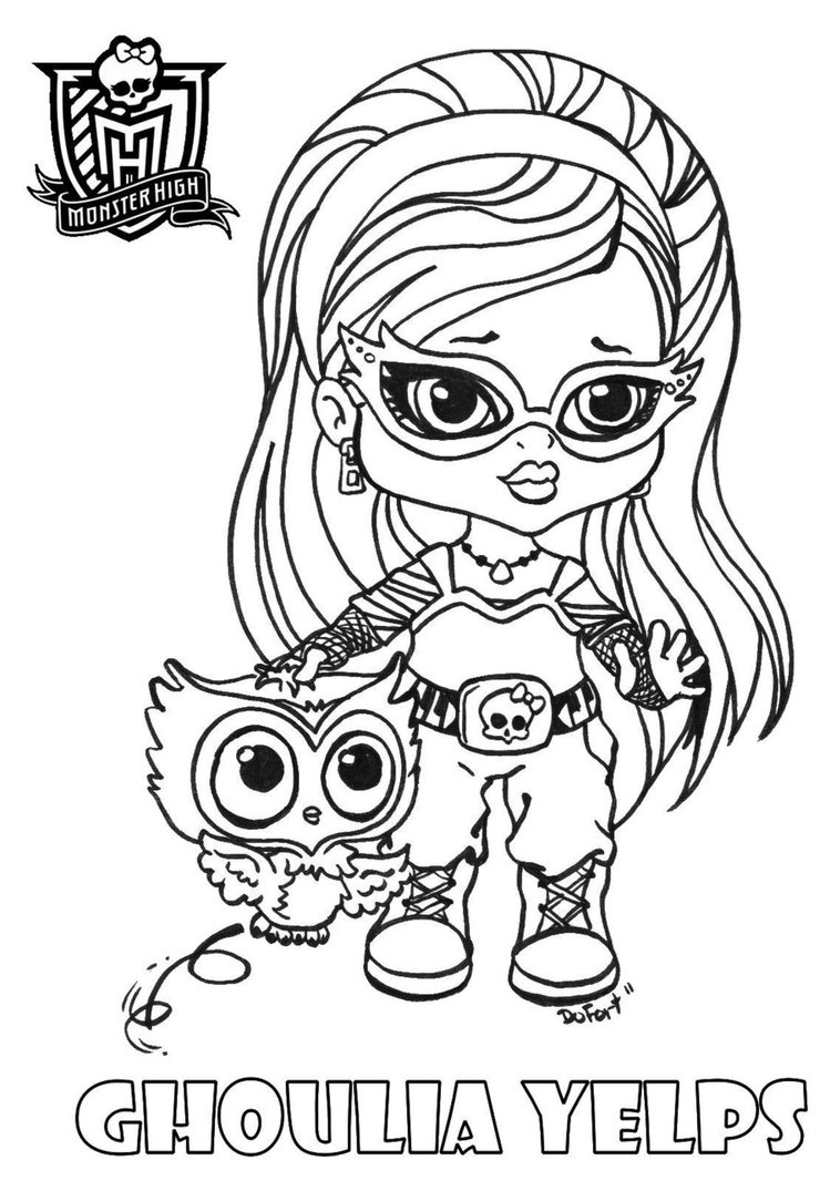 Monster h ah desehos para colorir das monster high - Coloriage monster high baby ...