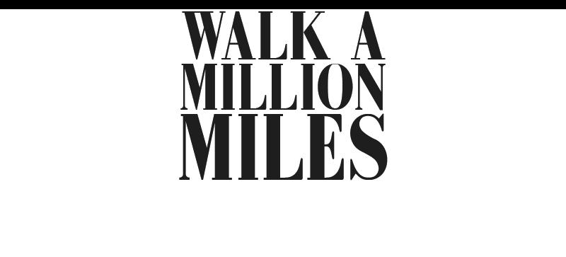 Walk a million miles.