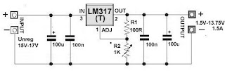 LM317(T) Variable Regulator Circuit