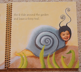 personalised story book snail
