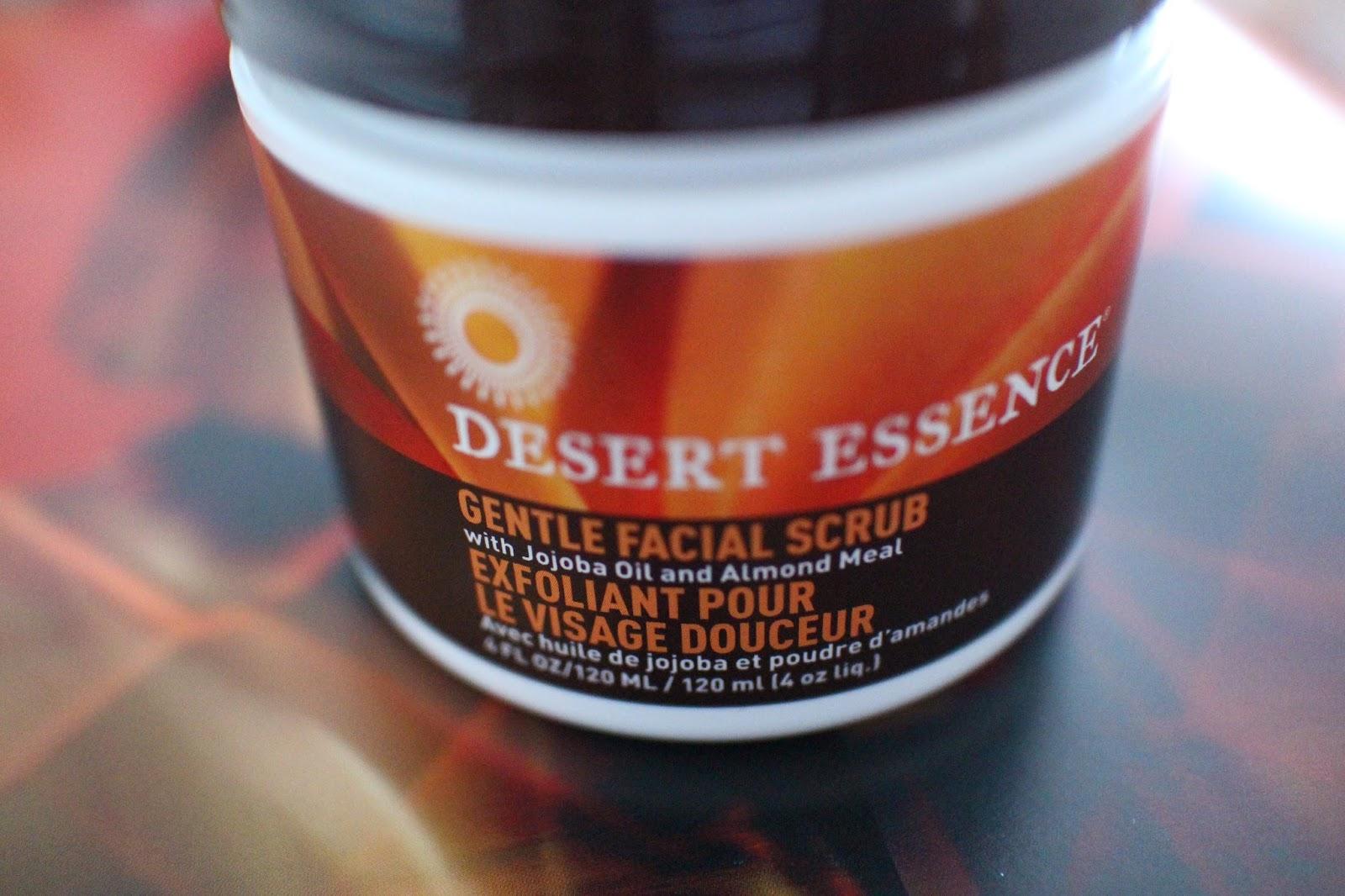 Desert essence facial scrub