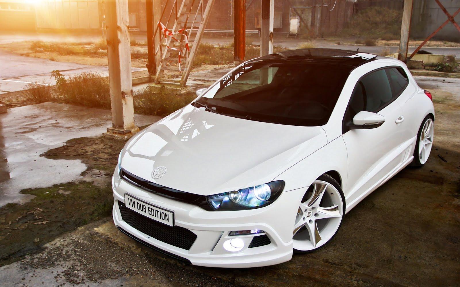 Бял Volkswagen Scirocco Dub Edition - Tuning, HD Wallpaper
