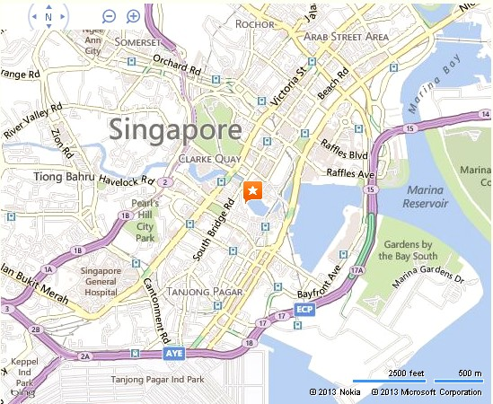 Boat Quay Singapore Location Map – Tourist Map Of Singapore City