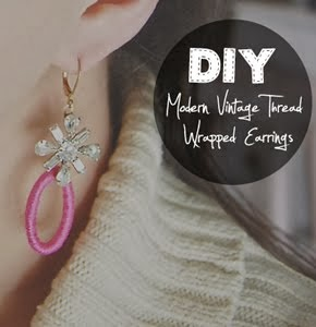 MODERN VINTAGE THREAD WRAPPED EARRINGS