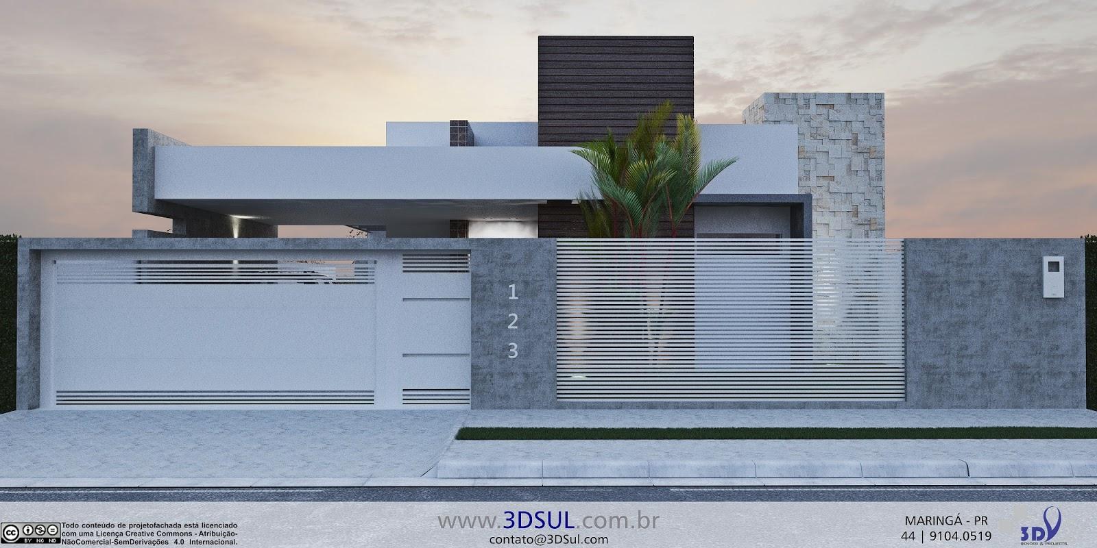 Eletrônica 3D: Projeto Arquitetonico 3D Casa Moderna com Piscina #4C617F 1600 800