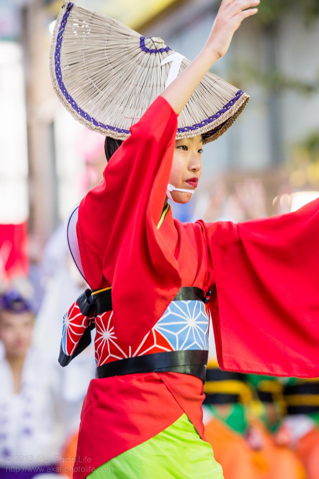 三鷹阿波踊り、みたか連の子供の女踊り