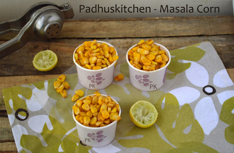 Masala corn-Sweet corn chaat