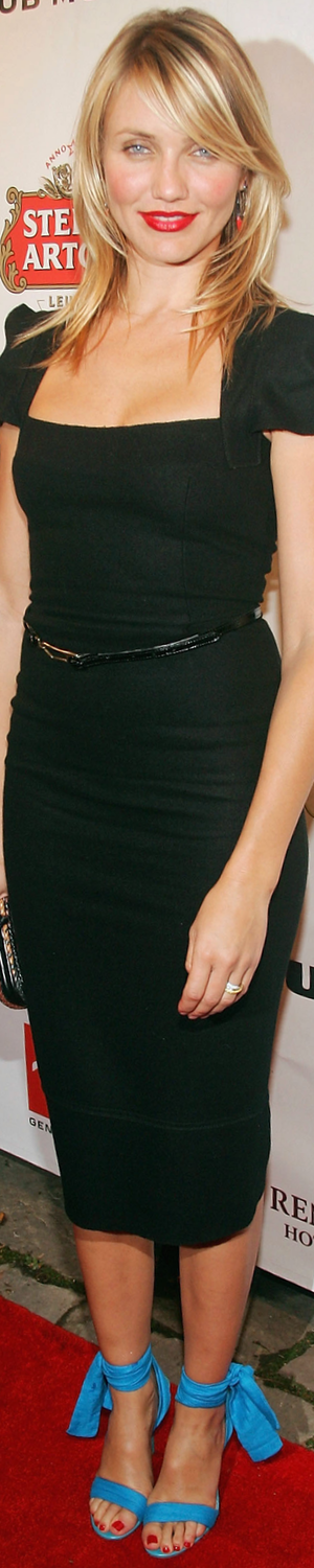 Cameron Diaz in Roland Mouret 2005 Premiere of In Her Shoes
