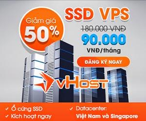 Giảm giá 50% SSD VPS