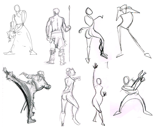 Scribble Gesture Drawing : Basic drawing examples of gesture from the web