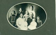 John and Agnes Blackett Family picture after Agnes died