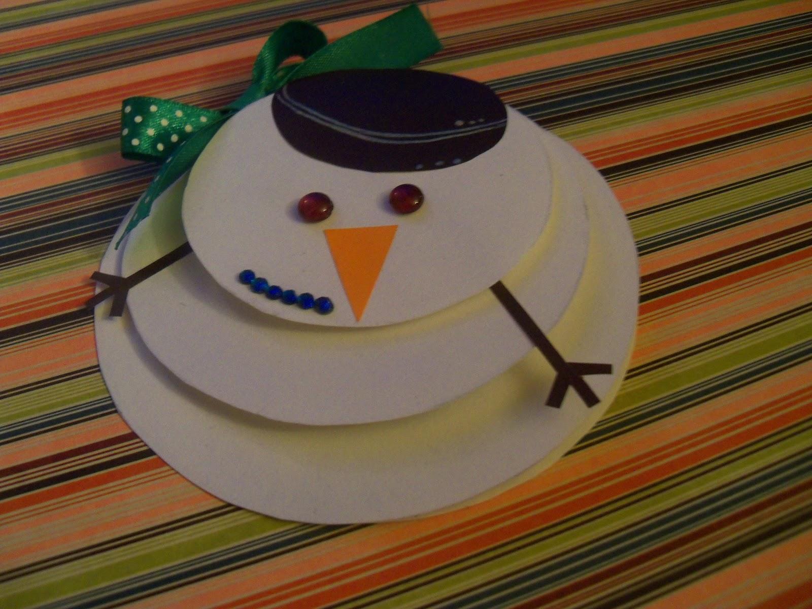 Как сделать открытку снеговика своими руками
