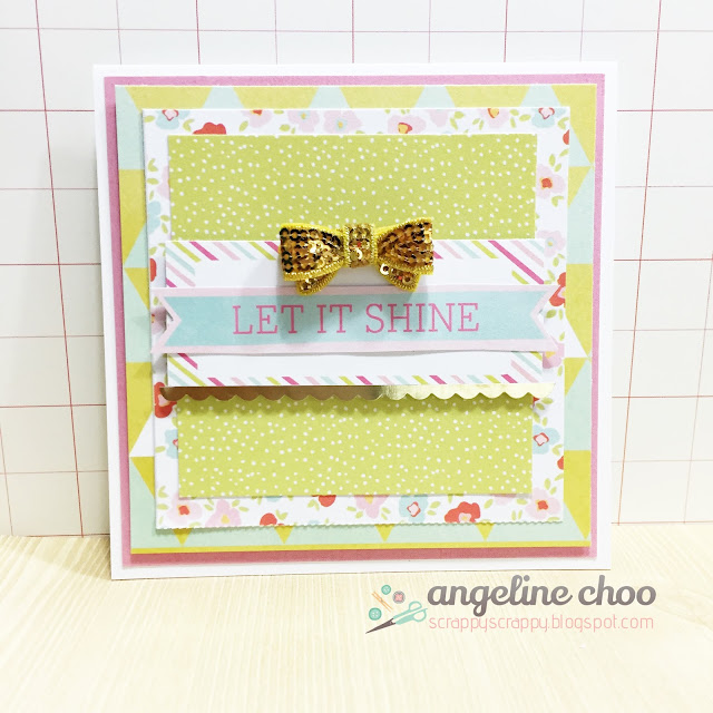 ScrappyScrappy: Let it shine #scrappyscrappy #dearlizzy #card