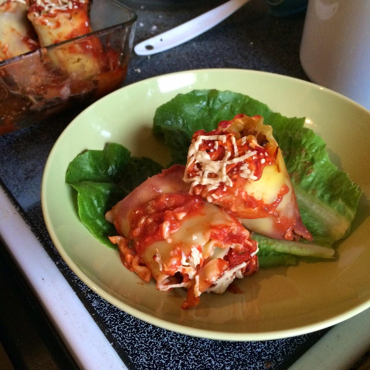 Vegan Lasagna Rolls - heatherq.com