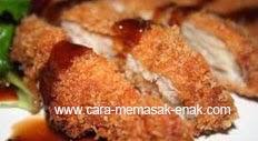 resep praktis dan mudah membuat Chicken katsu spesial renyah enak lezat