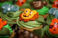 Jungle / safari animals cupcakes
