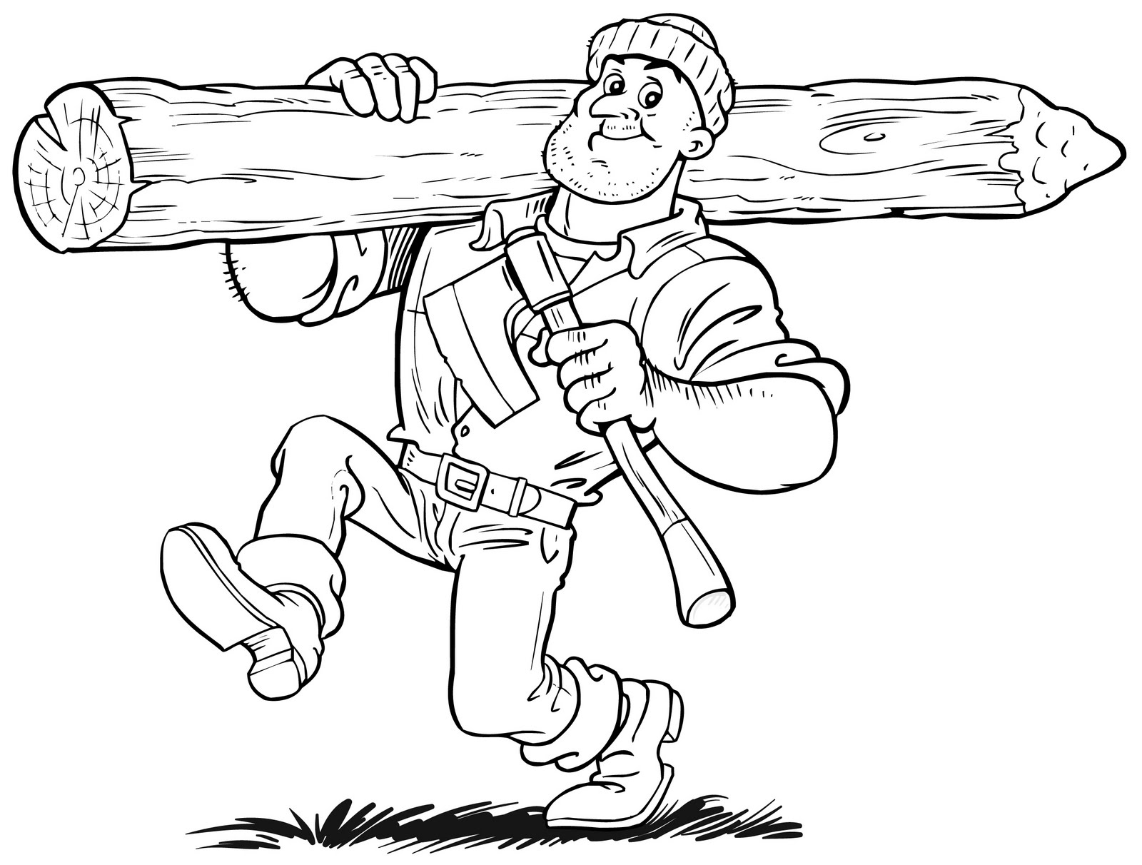 printable lumberjack coloring pages - photo#2