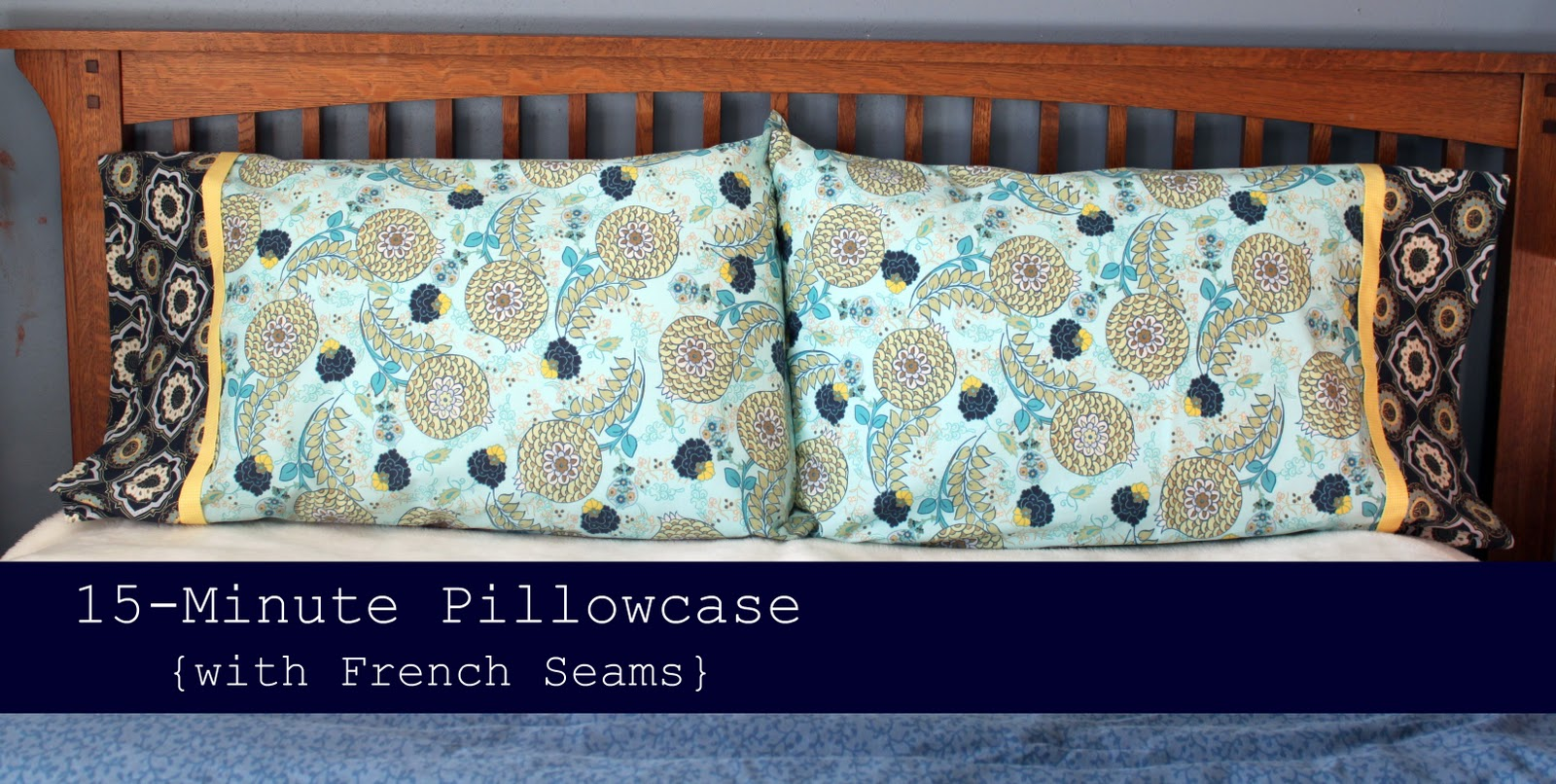 Diy Pillowcases With French Seams: 15 Minute Pillowcase {with French Seams}   Tutorial   The Cottage Mama,