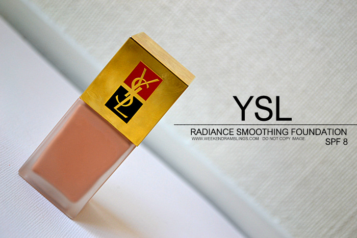 YSL Makeup Foundation Teint Eclat de Soie Radiant Smoothing with SPF 8 FOTD Looks Beauty Blog Reviews Swatches Indian Darker Skin