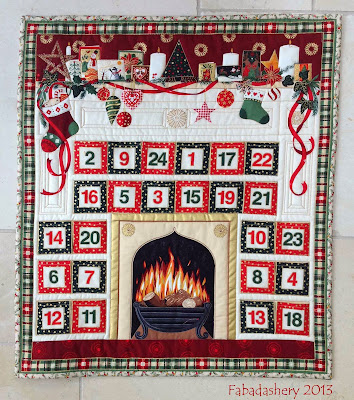 Makower Advent Calendar Quilt #107