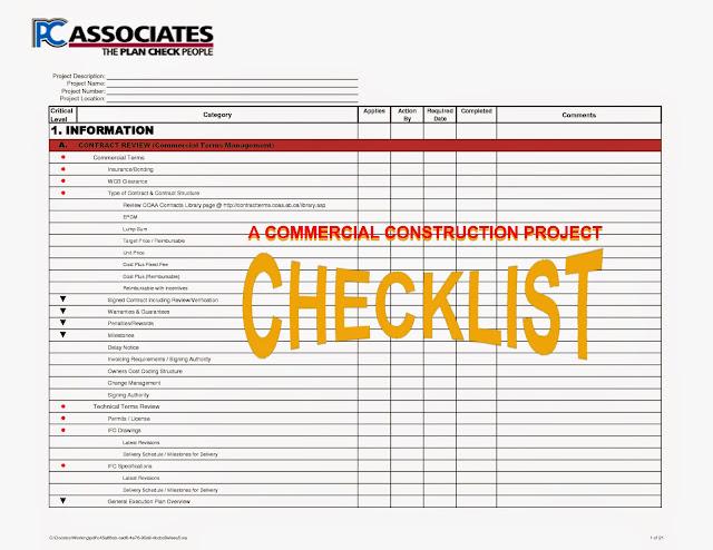 Construction processes review construction checklist for Build it green checklist