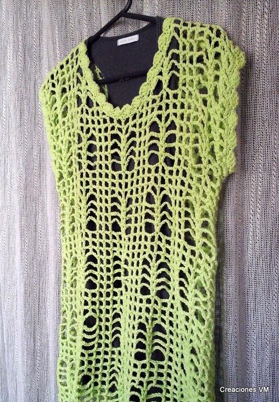 Suéter de verano tejido a crochet