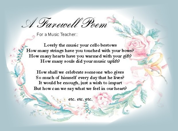 Farewell message to a close friend