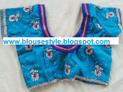Designer blue colour blouse
