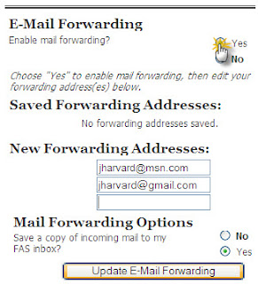 jenis email forwarding
