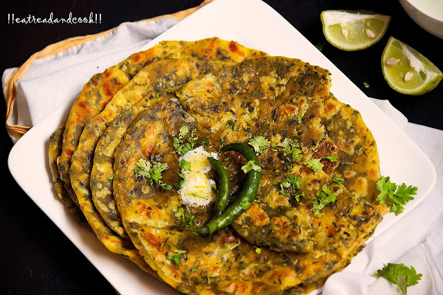sukhi methi paratha recipe how to make kasuri methi paratha recipe
