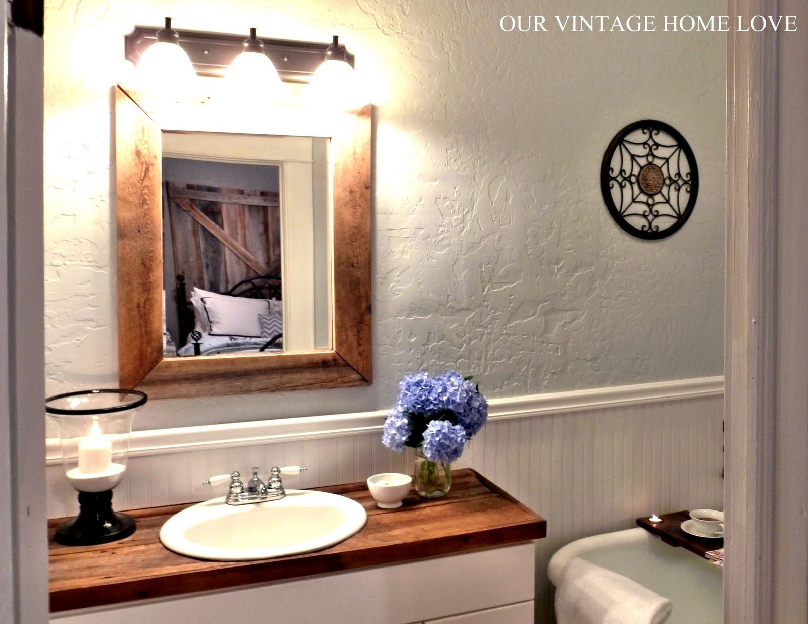 Vintage Home Love Master Bath Redo Featuring Reclaimed Barn Wood