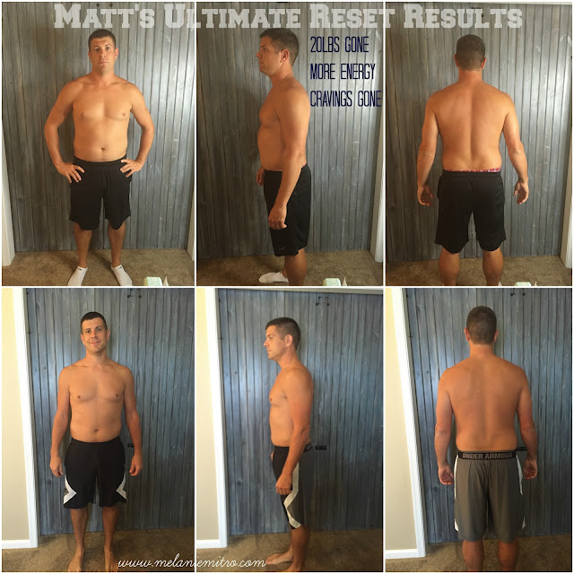 Ultimate Reset Mens Transformation, 21 Day Ultimate Reset Results, Transformation Story, 21 Day Detox, Team Beachbody Ultimate Reset, healthy cleanse