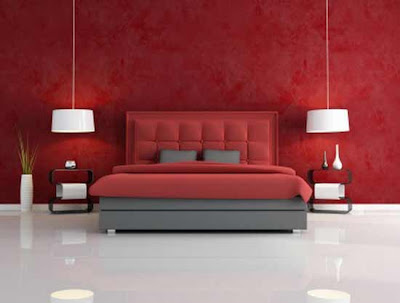 Red color in the bedrooms of a special character - the colors of ...