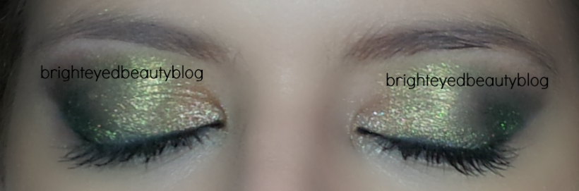 St. Patrick's Day inspired green eye look