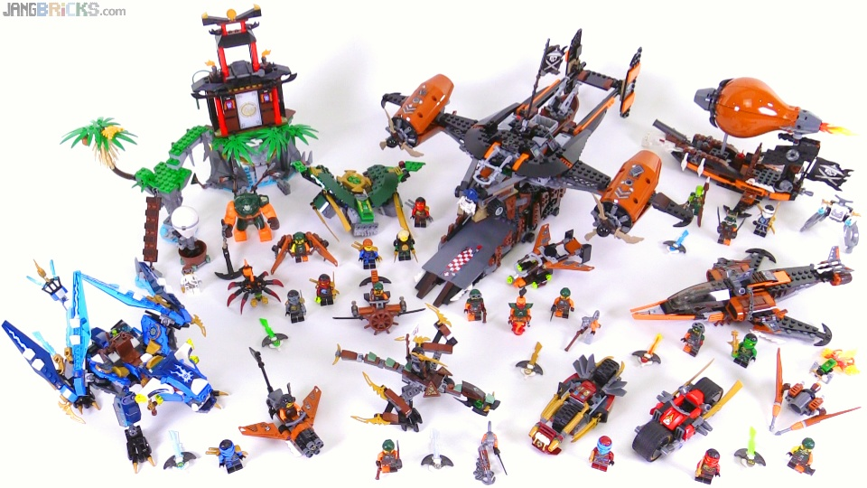 LEGO Ninjago Skybound Wave 1 Sets Together