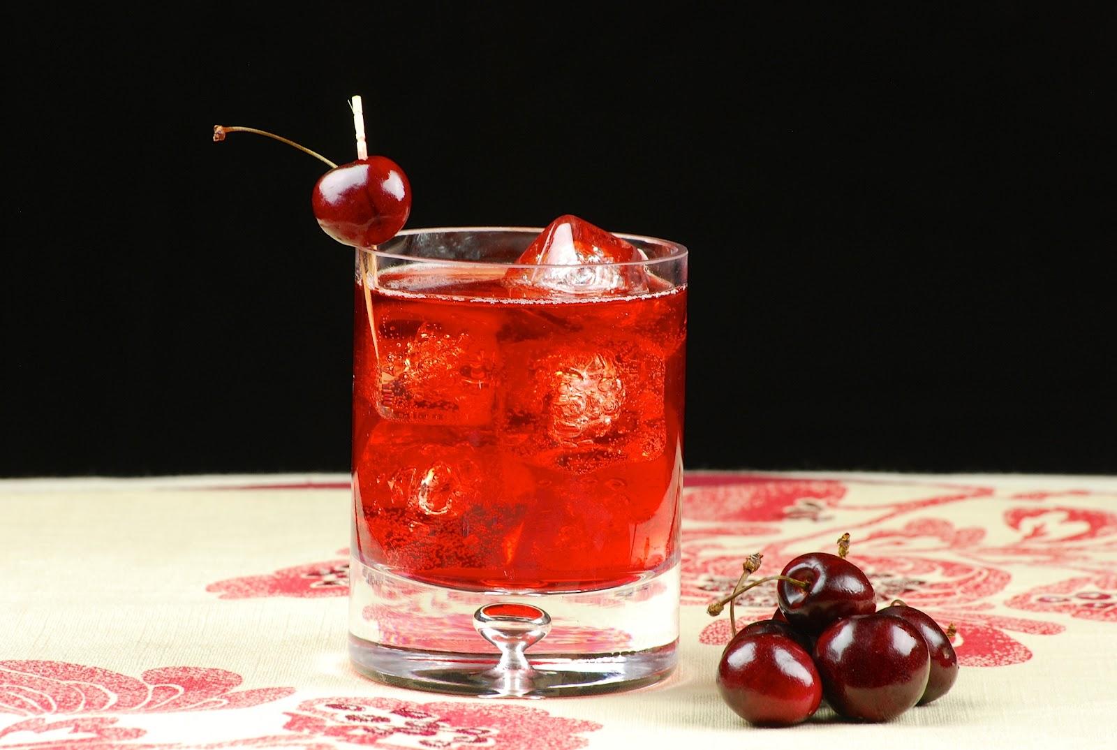 Pouring cherries. Cherry Liqueur Recipes 6