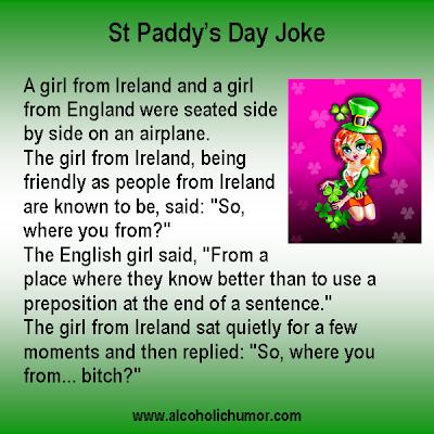 Irish Girl on a Plane - St Patrick's Day Joke